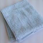 水色タオル